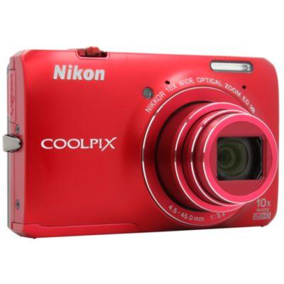 APN NIKON Pack Coolpix S6300 rouge + Etu