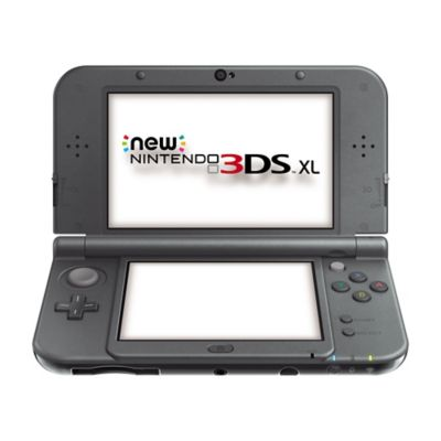 Nintendo new 3ds xl noir m tallique new nintendo 3ds for Ecran noir appareil photo 3ds
