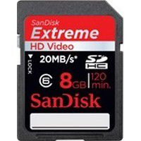 Mémoire SANDISK SD 8Go EXTREME VIDEO HD