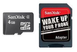Mémoire SANDISK Micro SD HC 4Go