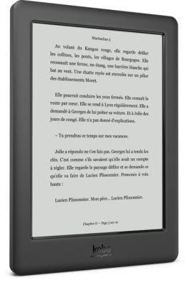 Liseuse Ebook Kobo Touch 2.0 Noir