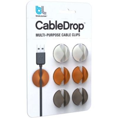 Accessoire BLUELOUNGE Pack 6 CableDrop couleurs douces