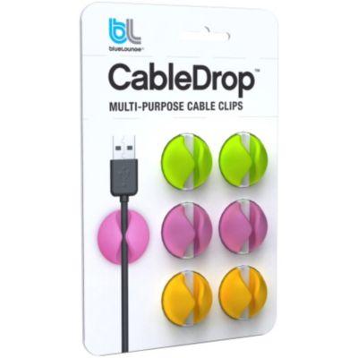 Accessoire BLUELOUNGE Pack 6 CableDrop couleurs vives