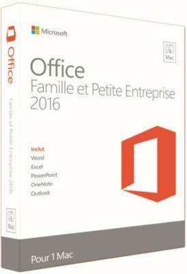 Logiciel de bureautique Microsoft Office Mac Famille et Entreprise 2016