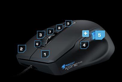 Kone Pure Core Performance Roccat souris gamer filaire 8200 dpi