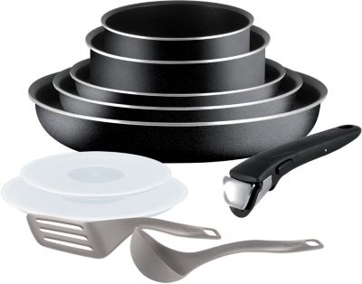 tefal ingenio essential noir 10 pi ces batterie de cuisine boulanger. Black Bedroom Furniture Sets. Home Design Ideas