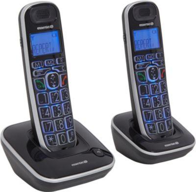 essentielb confort v2 10 2 t l phone sans fil boulanger. Black Bedroom Furniture Sets. Home Design Ideas