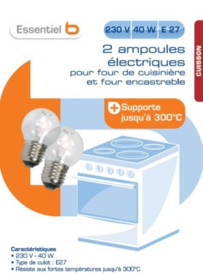 Ampoule ESSENTIELB four 300° E27 40W 230