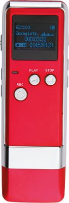 Dictaphone Essentielb Dicta'fun Rouge 4go