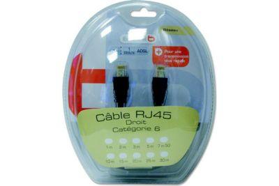 Cable RJ45 ESSENTIELB CAT6E Droit 7M50 noir