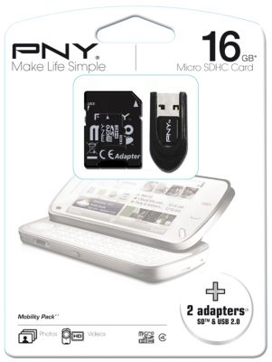 Mémoire PNY Kit micro SD 16Go mobility p