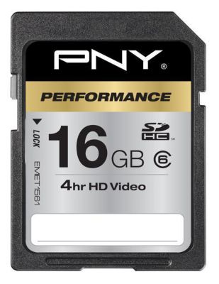Mémoire PNY SD 16Go PERFORMANCE Class6