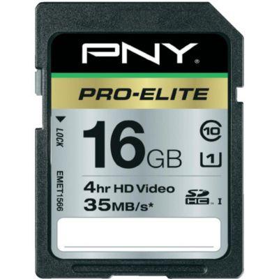 Mémoire PNY SD 16Go Pro Elite UHS-1