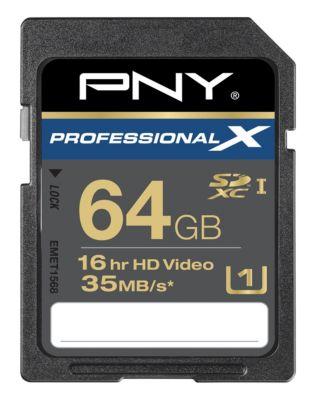 Mémoire PNY SD 64Go Professional X