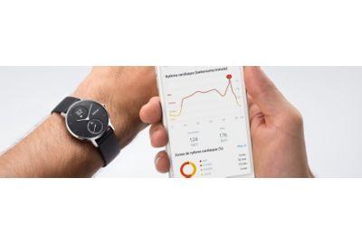 Tracker WITHINGS Steel HR Black 36mm