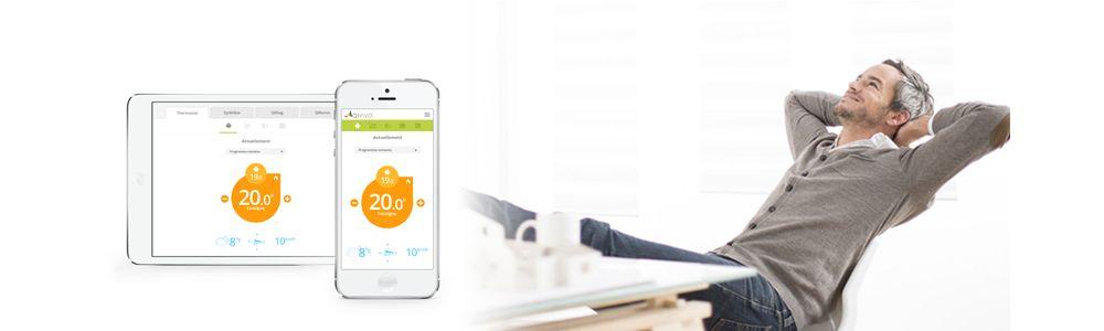 Thermostat intelligent Qivivo design