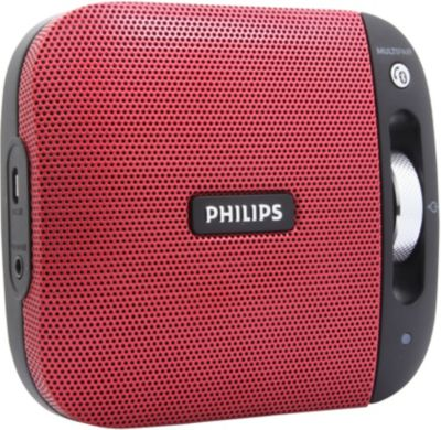 Enceinte Nomade Philips Bt2600 Rouge