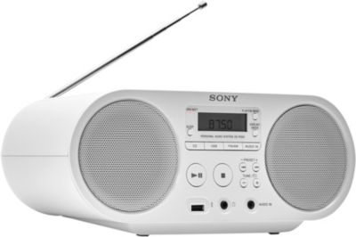 Radio Cd Sony Zs-ps50 Blanc