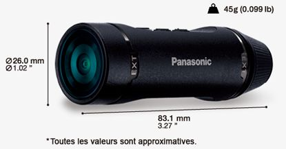 panasonic hx a1 noire cam ra sport boulanger. Black Bedroom Furniture Sets. Home Design Ideas