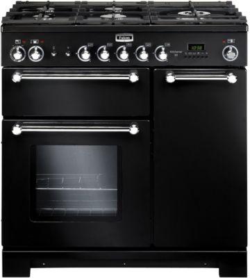 falcon kitchener 90 mixte noir chrome plancha piano de cuisson boulanger. Black Bedroom Furniture Sets. Home Design Ideas