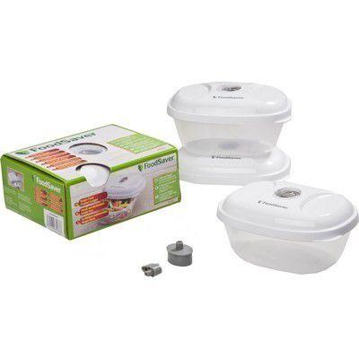 food saver t020 00024 3 boites de l lunch box conservation des aliments boulanger. Black Bedroom Furniture Sets. Home Design Ideas