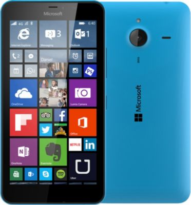 Microsoft Lumia 640 XL LTE Dual Sim – cyan mat – 4G HSPA+ – 8 Go – GSM – smartphone