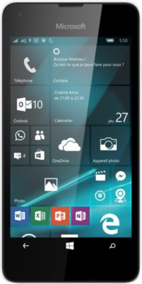 Microsoft Lumia 550 – blanc – 4G HSPA+ – 8 Go – GSM – téléphone intelligent Windows