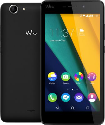 Wiko Pulp FAB – noir – 4G HSPA+ – 16 Go – GSM – smartphone Android