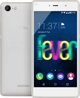 Smartphone Wiko Fever Blanc/or