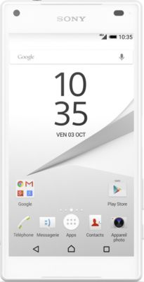 Sony XPERIA Z5 Compact – blanc – 4G LTE – 32 Go – GSM – téléphone intelligent Android