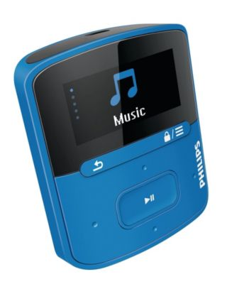 Bal. MP3 PHILIPS RAGA 4Go Bleu