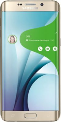Samsung Galaxy S6 edge+ – SM-G928F – or platine – 4G LTE – 32 Go – GSM – Android smartphone