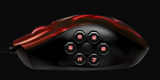 Naga Hex Wraith Red souris gamer Razer