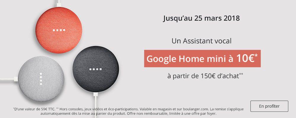 Offre Google Home mini