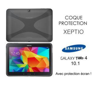Xeptio Samsung Galaxy Tab 4 10.1 coque noire