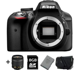 Nikon D3300 + 18-55 + Sac, SD 8Go, 2e batterie