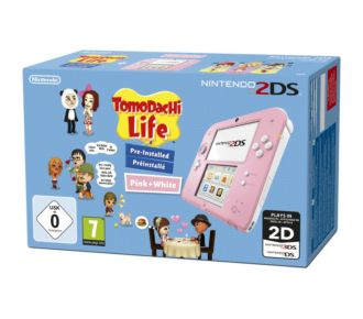 Nintendo 2DS Rose/Blanche + Tomodachi Life