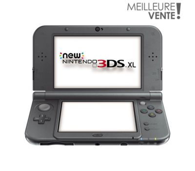 pack nintendo new 3ds xl noir m tallique chez boulanger. Black Bedroom Furniture Sets. Home Design Ideas