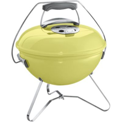 Barbecue charbon WEBER SMOKEY JOE 37 cm jaune anis