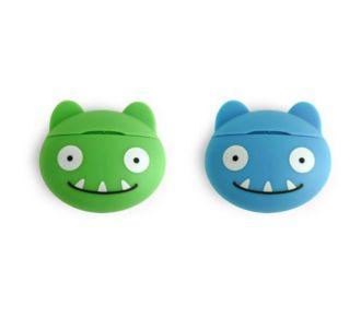Kikkerland Fil dentaire menthe Monstre bleu & vert
