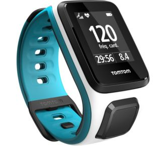 Tomtom Outdoor GPS Runner 2+Cardio Blanc/Turquoise Fin