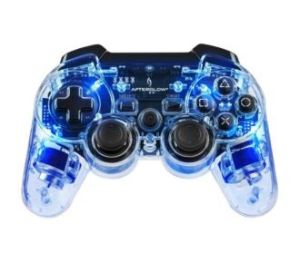 PDP Manette PS3 Afterglow Sans Fil Bleue