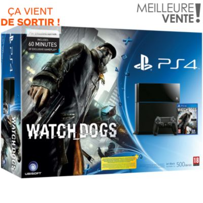 PS4 500Go + Watch Dogs