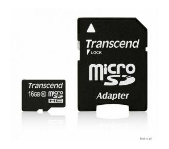Transcend 16Go microSDHC + adaptateur