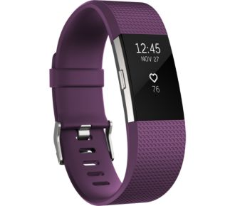 Fitbit Charge 2 Plum Silver S