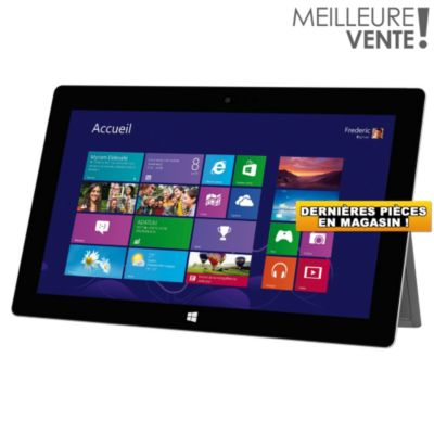 tablette multim dia windows microsoft surface 2 32go tablette tactile windows sur. Black Bedroom Furniture Sets. Home Design Ideas