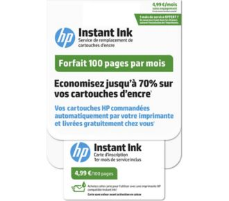 HP Instant Ink 100 pages