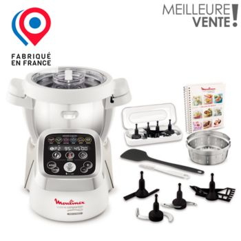 Moulinex companion hf800a10 robot multifonction boulanger for Robot cuiseur multifonction thermomix