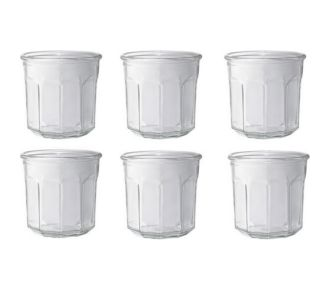 Le Parfait 6 pots à confiture sans couvercle 445ml