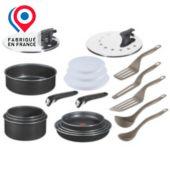 Batterie de cuisine TEFAL Ingenio Basic Noir 20 pièces